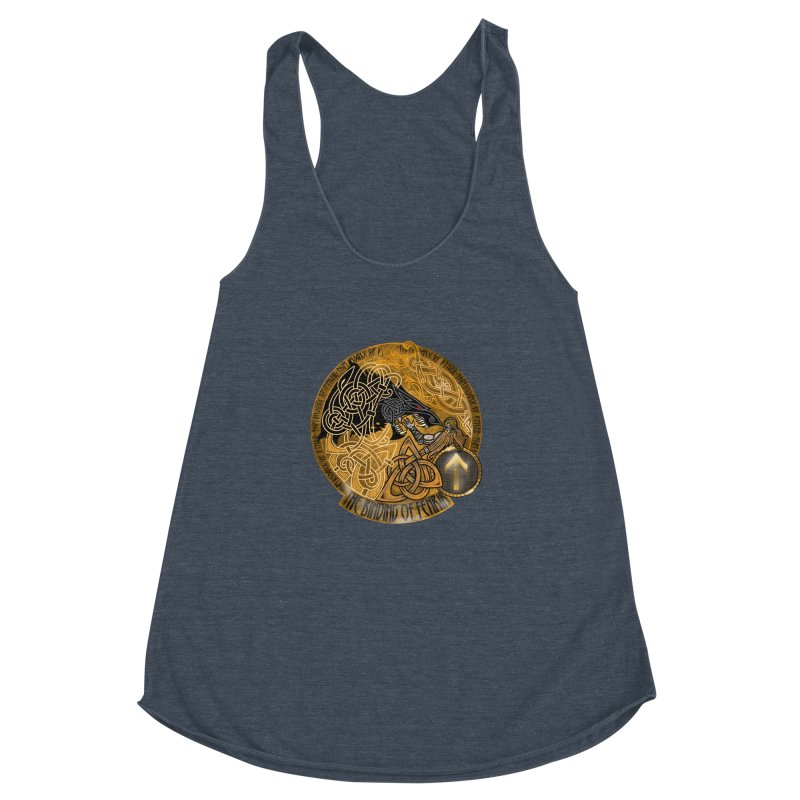 The Binding of Fenrir Women's Racerback Triblend Tank by Celtic Hammer Club