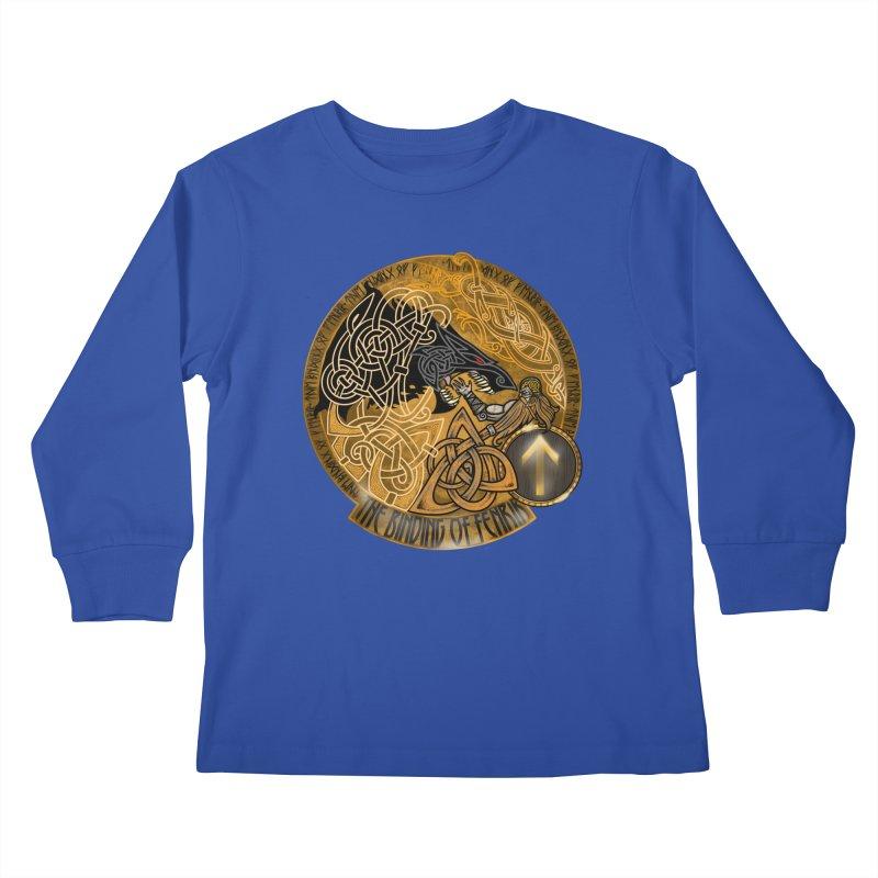 The Binding of Fenrir Kids Longsleeve T-Shirt by Celtic Hammer Club