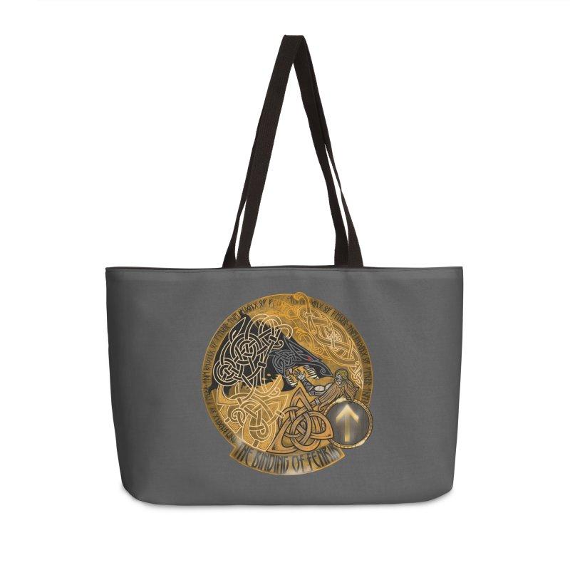 The Binding of Fenrir Accessories Weekender Bag Bag by Celtic Hammer Club