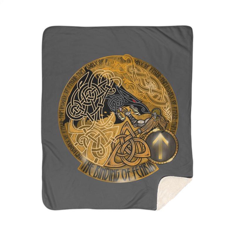 The Binding of Fenrir Home Sherpa Blanket Blanket by Celtic Hammer Club
