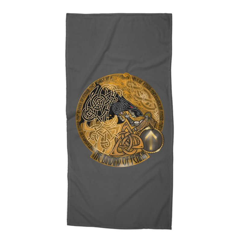 The Binding of Fenrir Accessories Beach Towel by Celtic Hammer Club