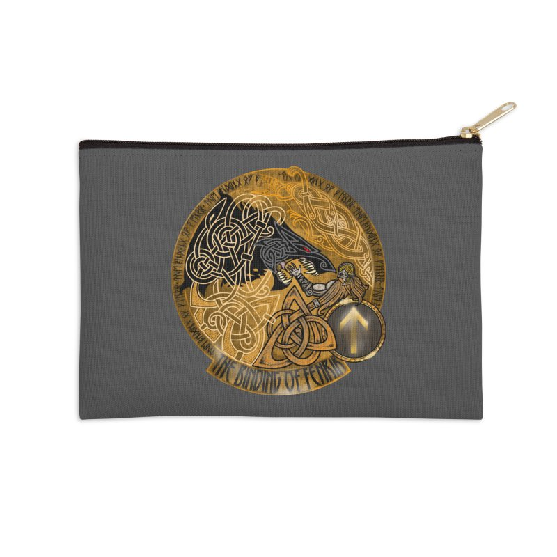 The Binding of Fenrir Accessories Zip Pouch by Celtic Hammer Club
