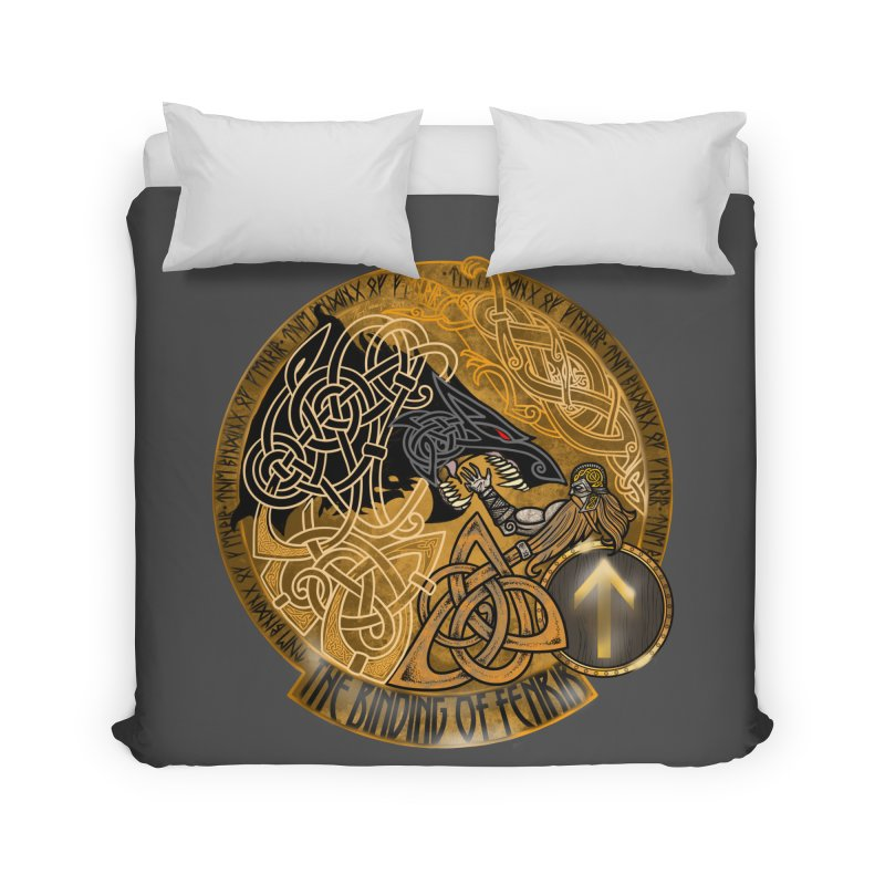 The Binding of Fenrir Home Duvet by Celtic Hammer Club