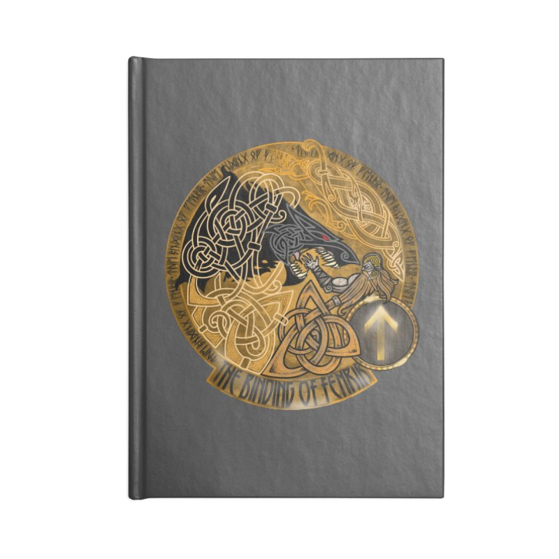 The Binding of Fenrir Accessories Lined Journal Notebook by Celtic Hammer Club