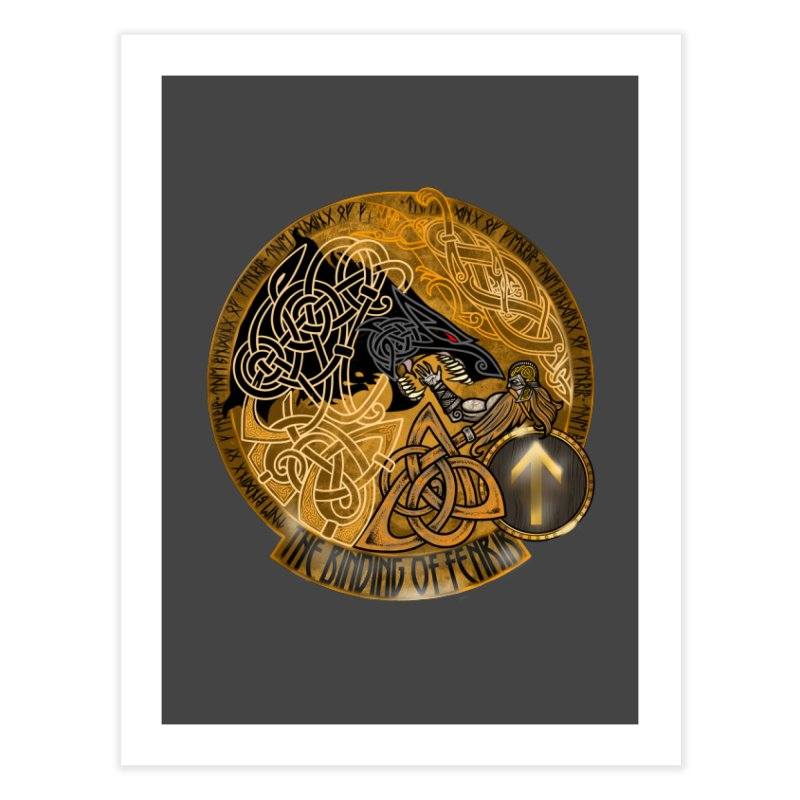 The Binding of Fenrir Home Fine Art Print by Celtic Hammer Club
