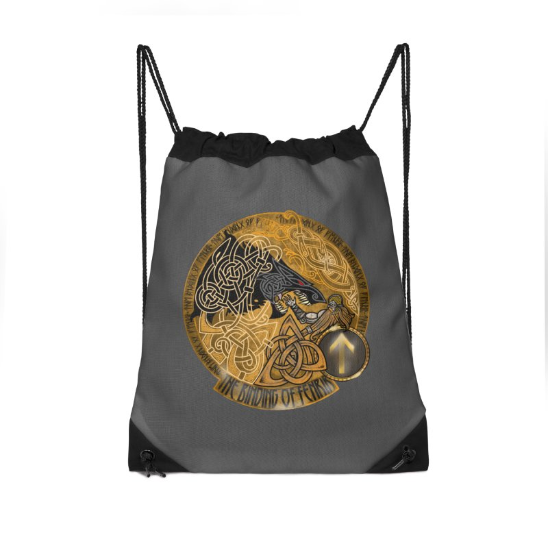 The Binding of Fenrir Accessories Drawstring Bag Bag by Celtic Hammer Club