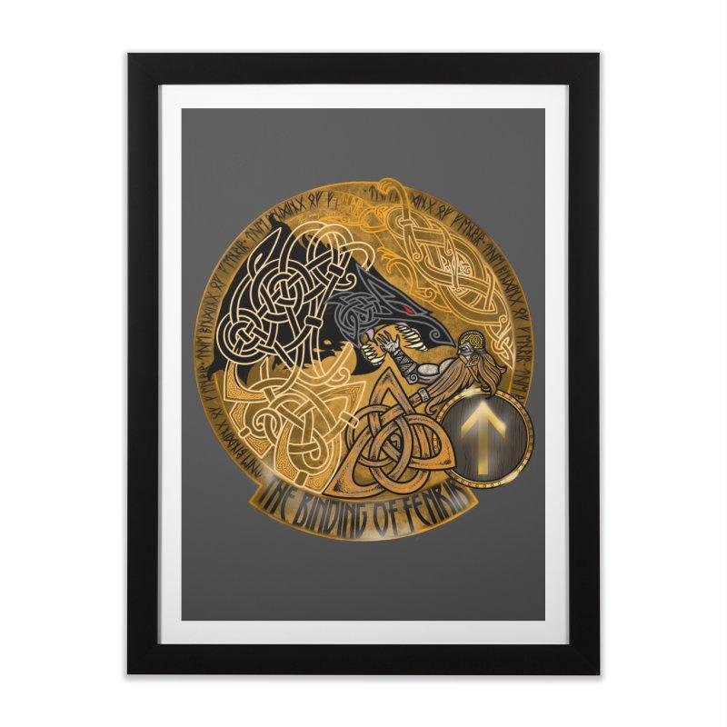 The Binding of Fenrir Home Framed Fine Art Print by Celtic Hammer Club
