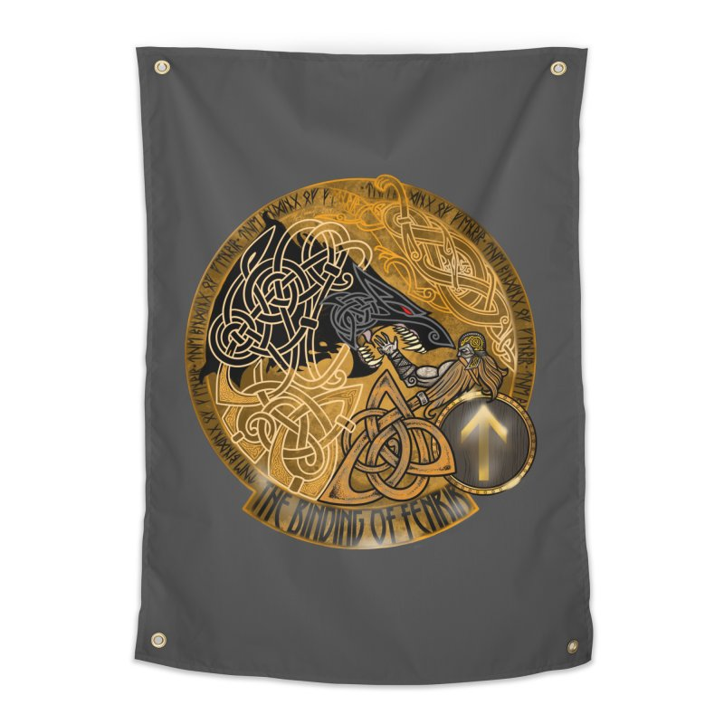 The Binding of Fenrir Home Tapestry by Celtic Hammer Club