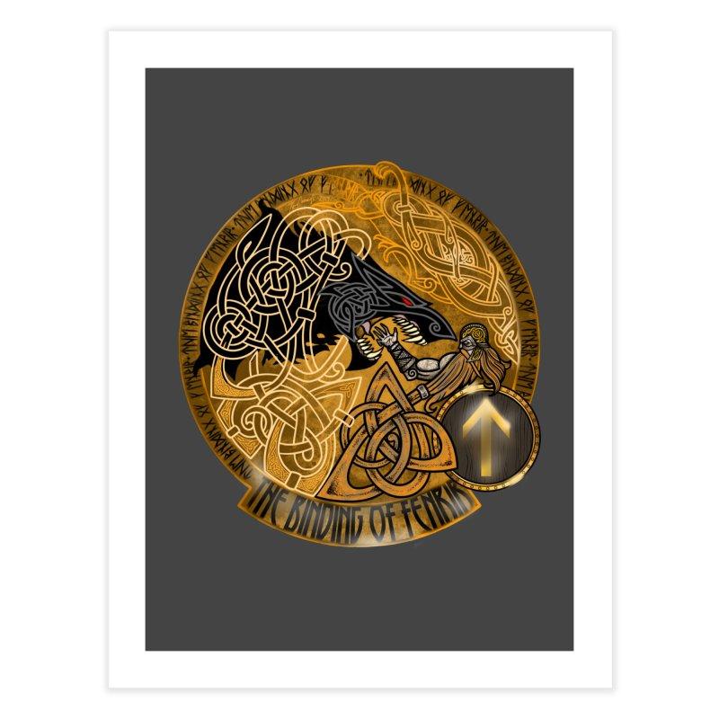 The Binding of Fenrir Home Fine Art Print by Celtic Hammer Club