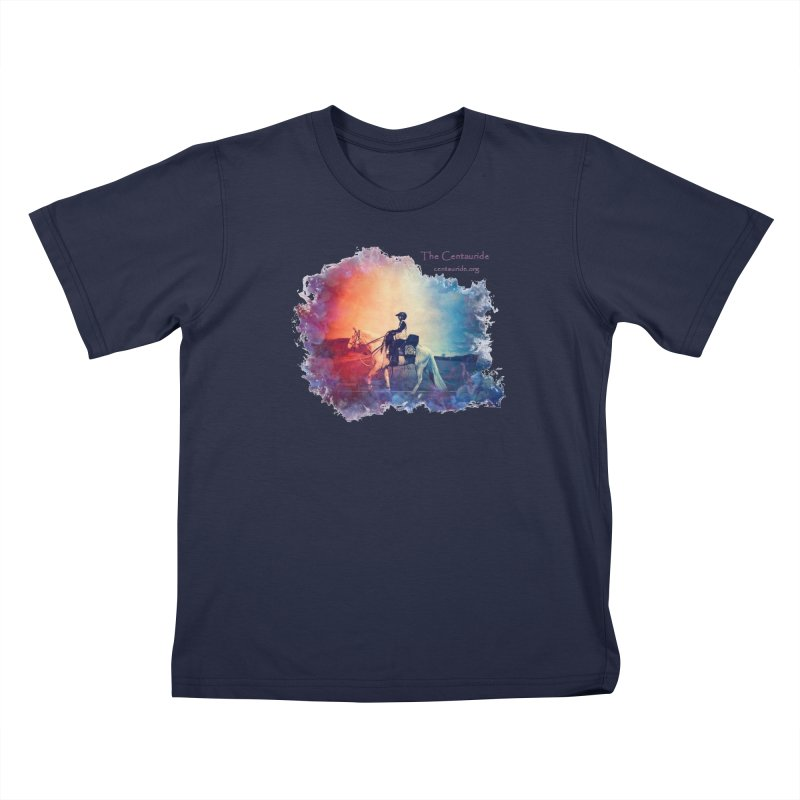 Red White and Blue Kids T-Shirt by Centauride Store