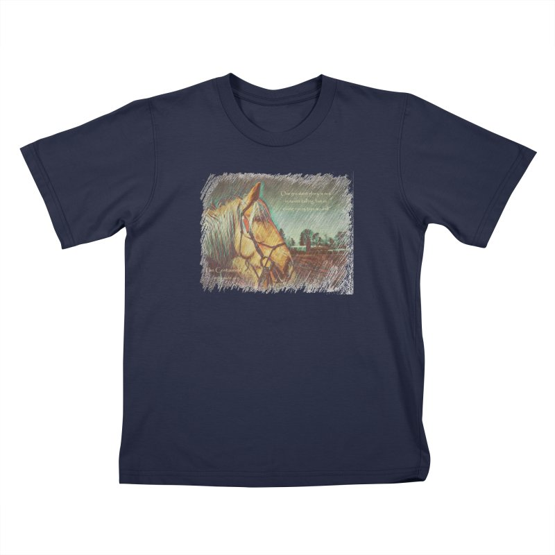 Apollo in Pencil (with quote) Kids T-Shirt by Centauride Store