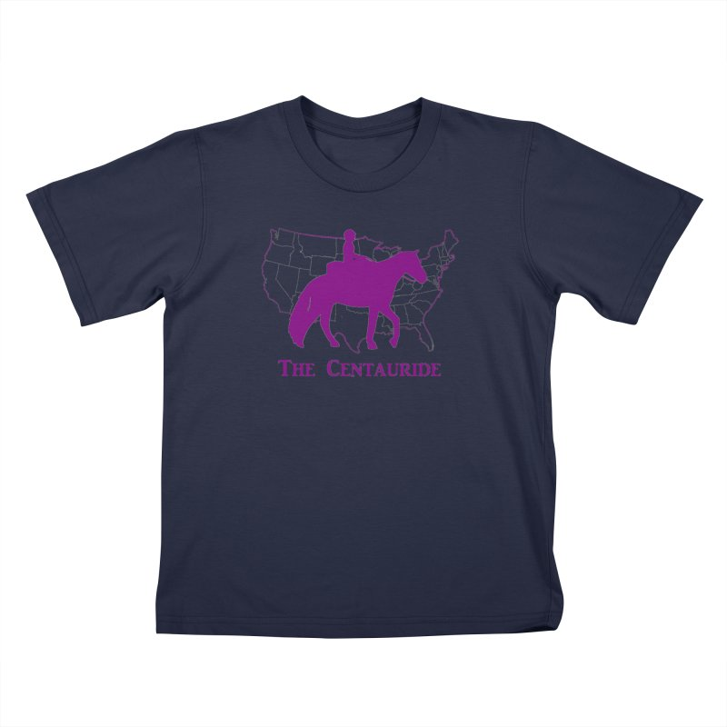 48 States Silhouette (purple) Kids T-Shirt by Centauride Store