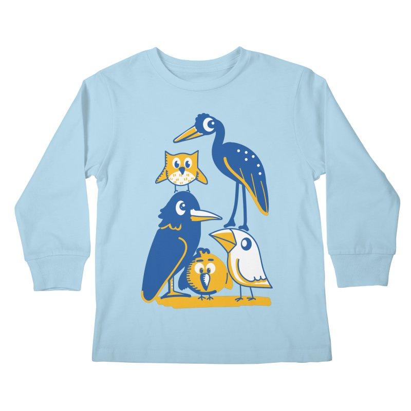 Birds of a Feather Kids Longsleeve T-Shirt by CephalopodArt