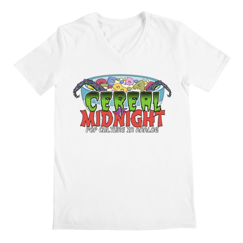 It Came From the Cereal Bowl! Men's V-Neck by Cereal at Midnight Store