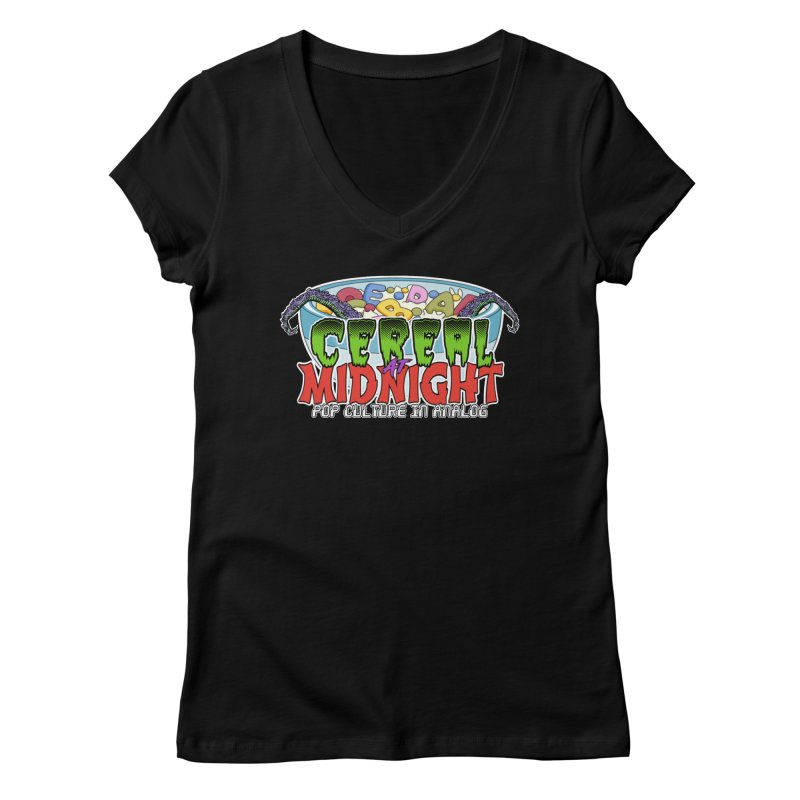 It Came From the Cereal Bowl! Women's V-Neck by Cereal at Midnight Store