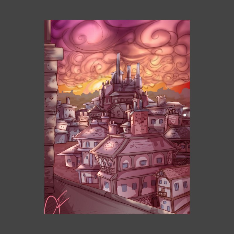 Smokey Cityscape at Sunset Home Fine Art Print by Magpies and Pigeons