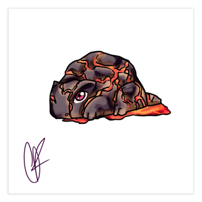 Baby Rock Lava Monster Home Fine Art Print by Magpies and Pigeons