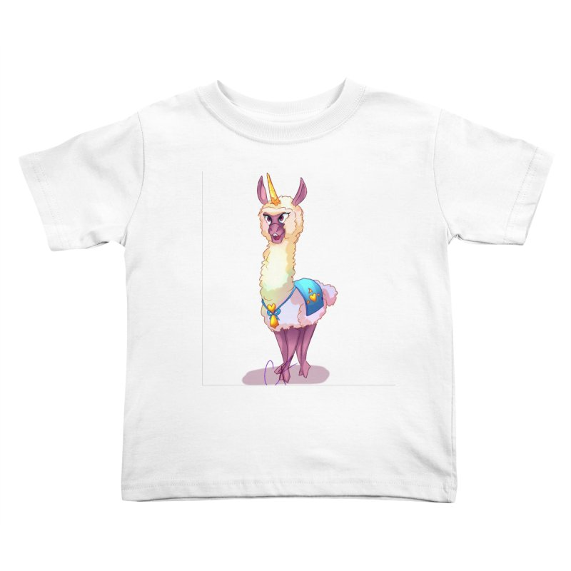 Llamacorn Kids Toddler T-Shirt by Magpies and Pigeons