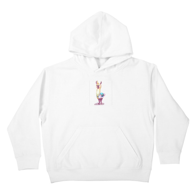 Llamacorn Kids Pullover Hoody by Magpies and Pigeons