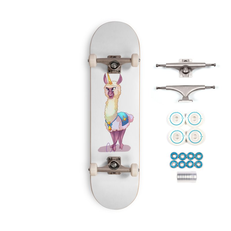 Llamacorn Accessories Skateboard by Magpies and Pigeons