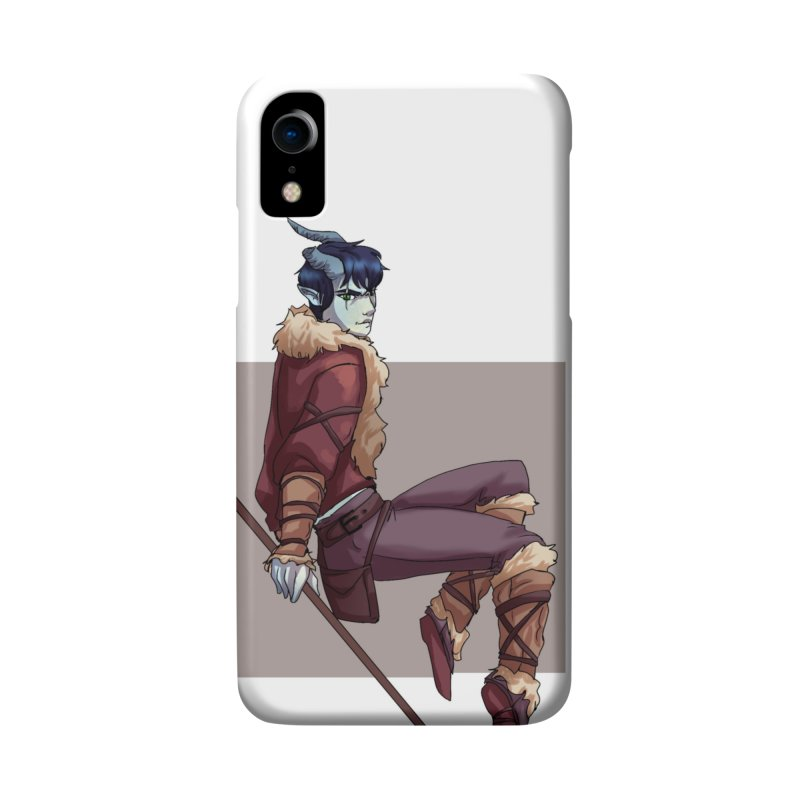 Tiefling Thief Accessories Phone Case by Magpies and Pigeons