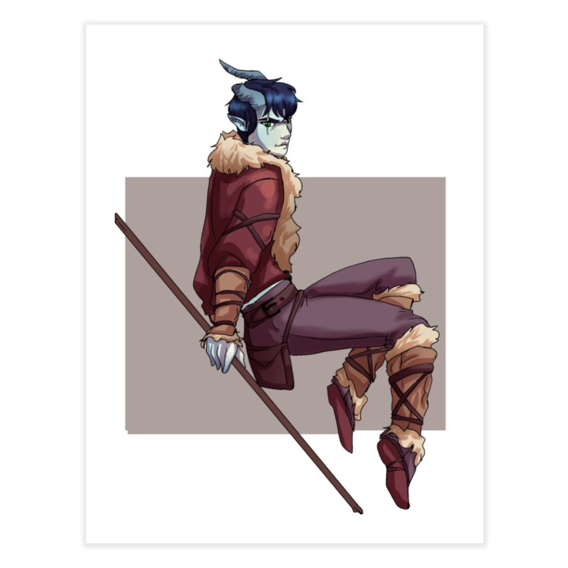 Tiefling Thief Home Fine Art Print by Magpies and Pigeons