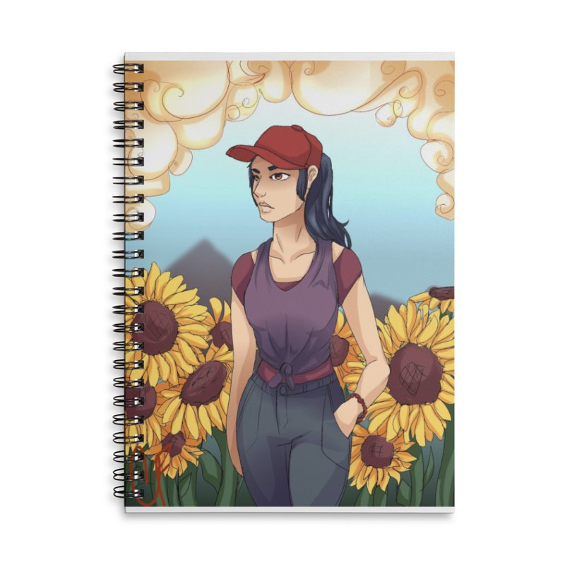 Sunflowers Accessories Notebook by Magpies and Pigeons