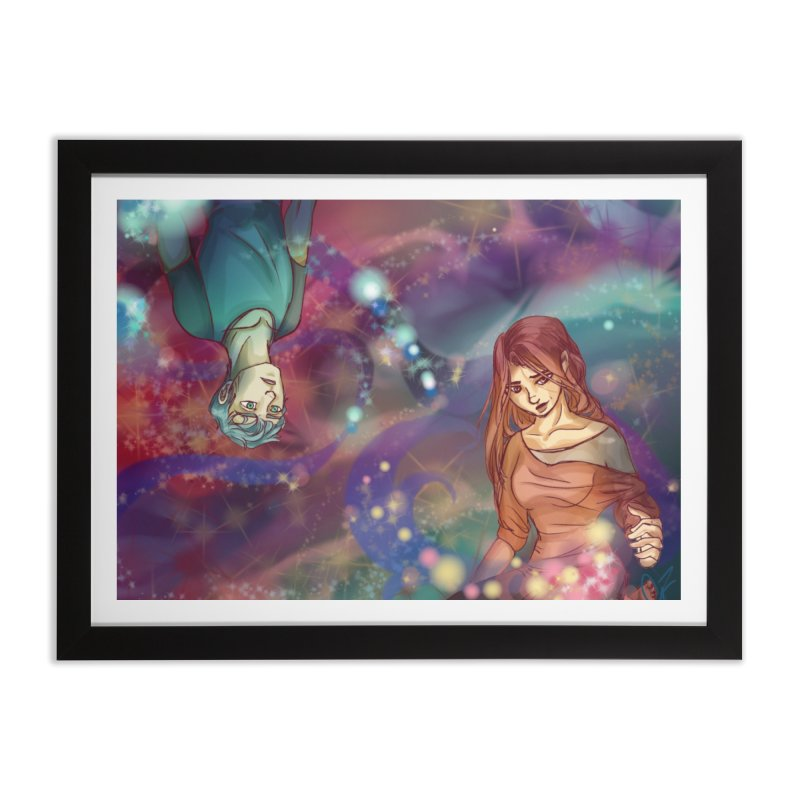 Inside the Wishing well Home Framed Fine Art Print by Magpies and Pigeons