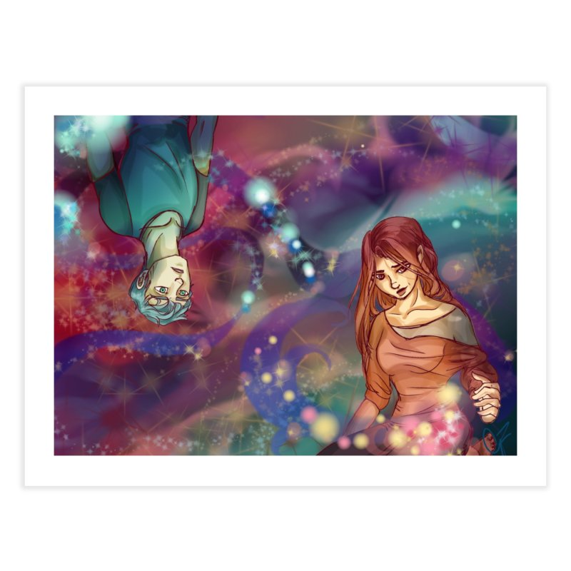 Inside the Wishing well Home Fine Art Print by Magpies and Pigeons
