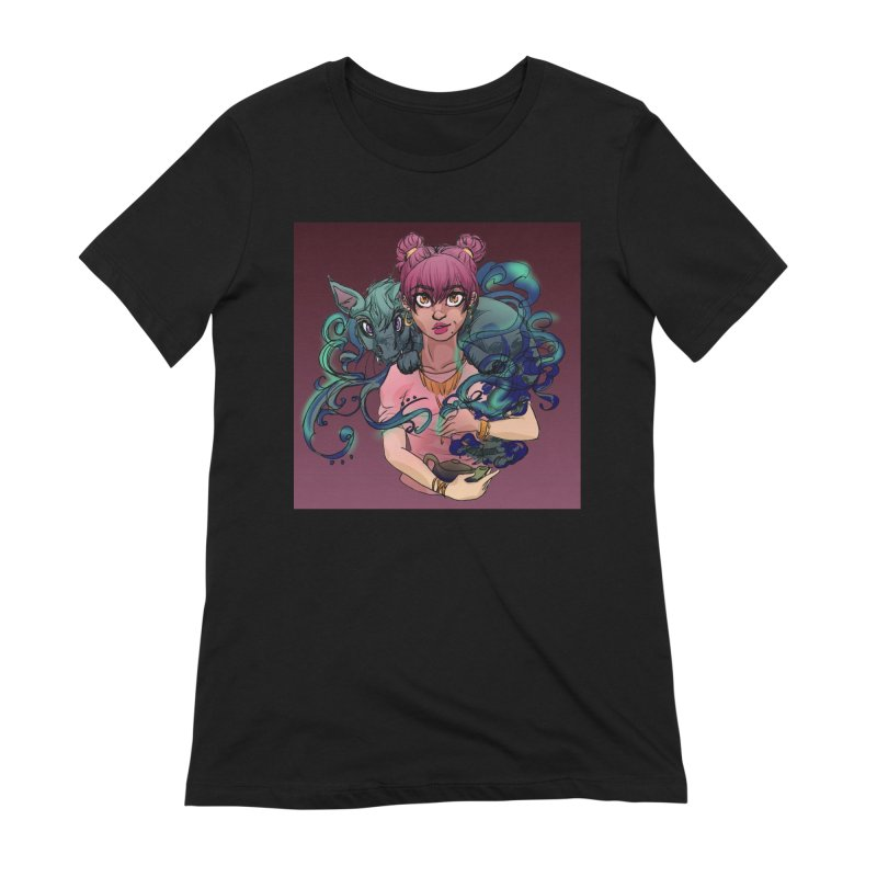Ghost Pet Women's Extra Soft T-Shirt by Magpies and Pigeons