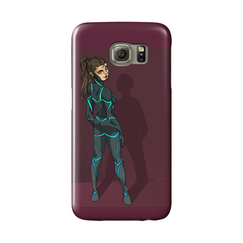 Angry Ninja Lady Accessories Phone Case by Magpies and Pigeons