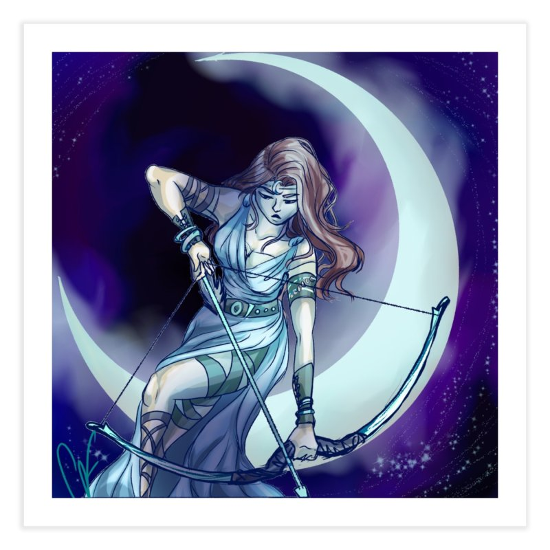 Artemis Home Fine Art Print by Magpies and Pigeons