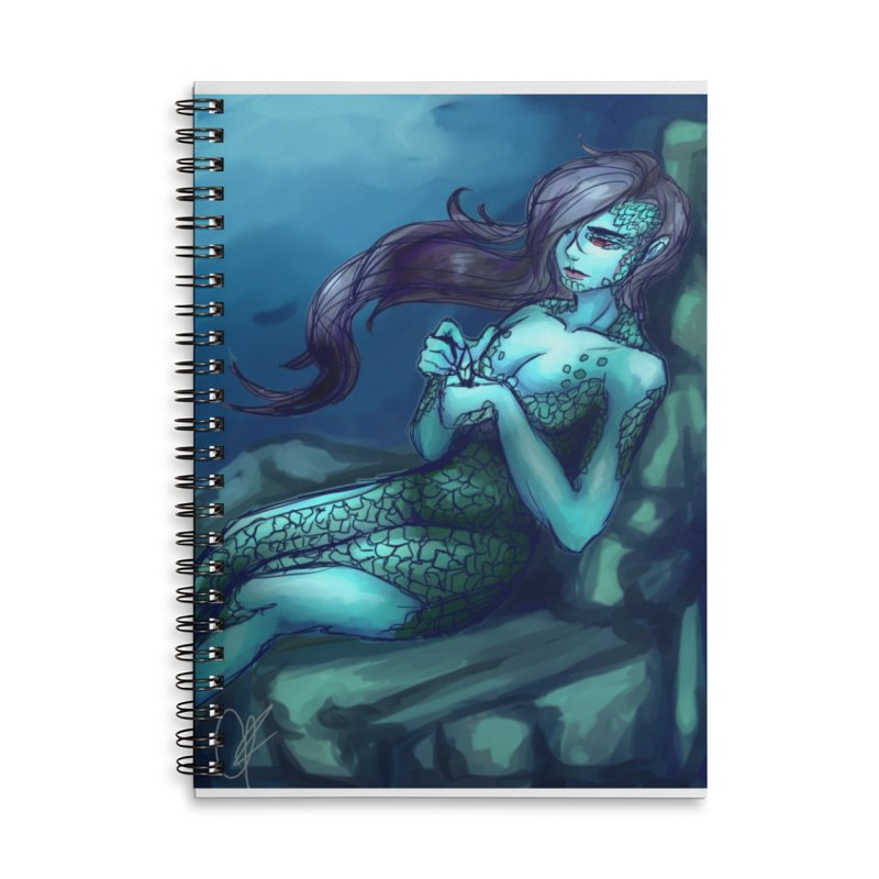 Blue Mermaid Accessories Notebook by Magpies and Pigeons