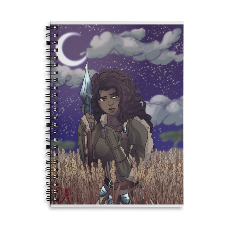 Lioness in the Wheat Accessories Lined Spiral Notebook by Magpies and Pigeons