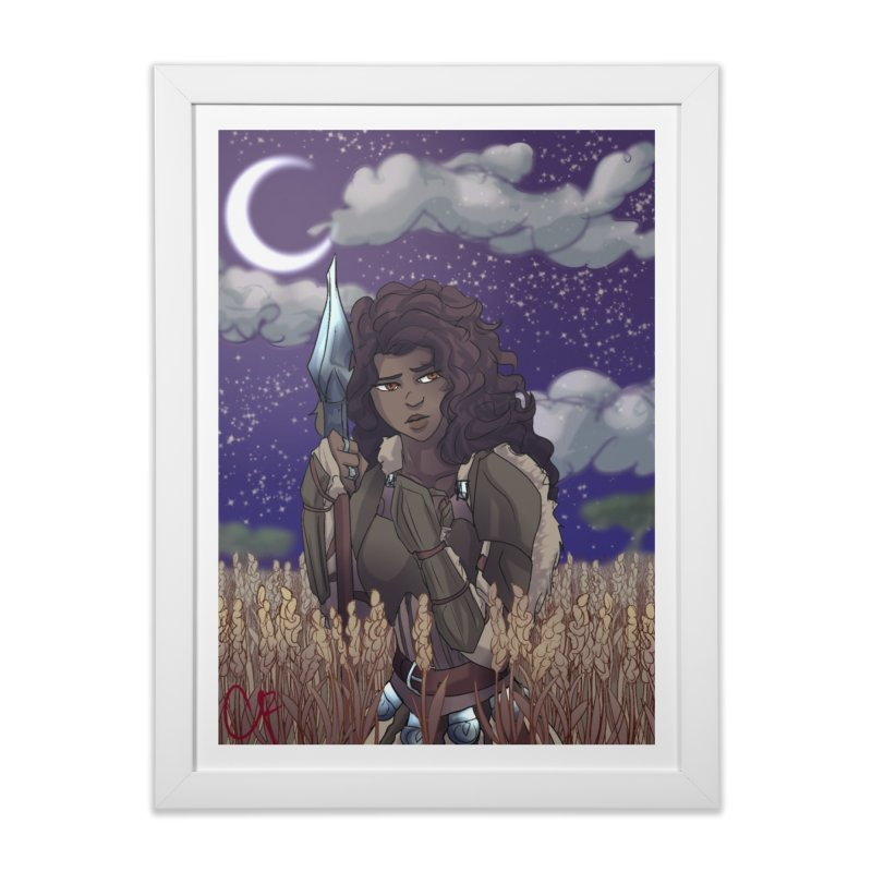 Lioness in the Wheat Home Framed Fine Art Print by Magpies and Pigeons