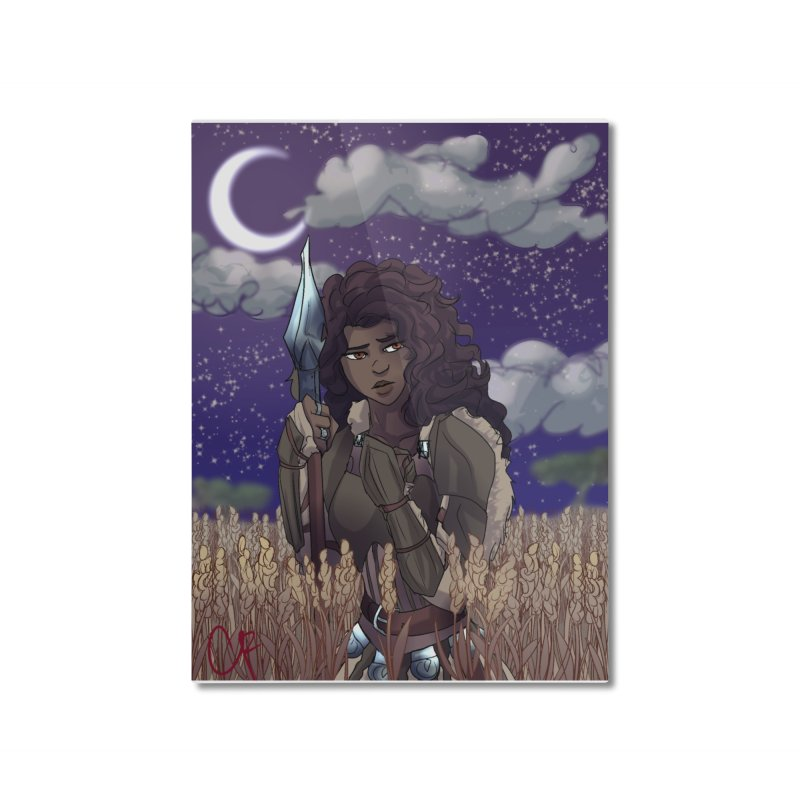 Lioness in the Wheat Home Mounted Aluminum Print by Magpies and Pigeons