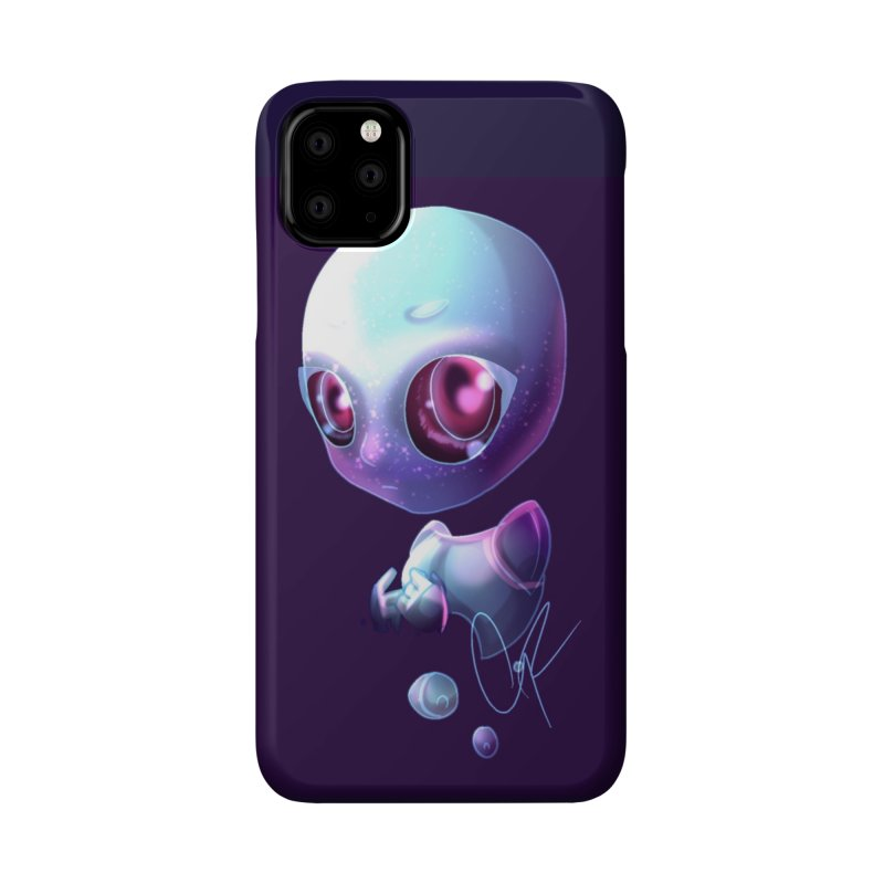 Jeff the Alien Accessories Phone Case by Magpies and Pigeons