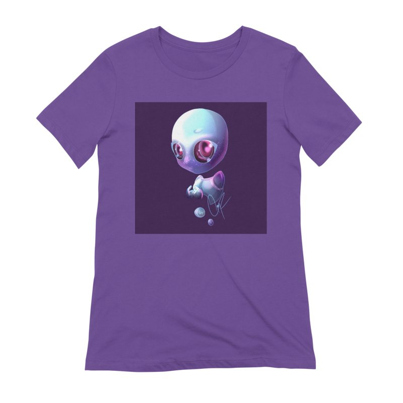 Jeff the Alien Women's Extra Soft T-Shirt by Magpies and Pigeons