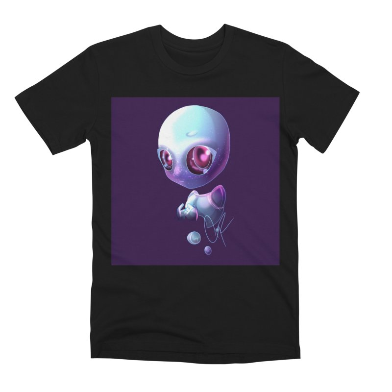Jeff the Alien Men's Premium T-Shirt by Magpies and Pigeons