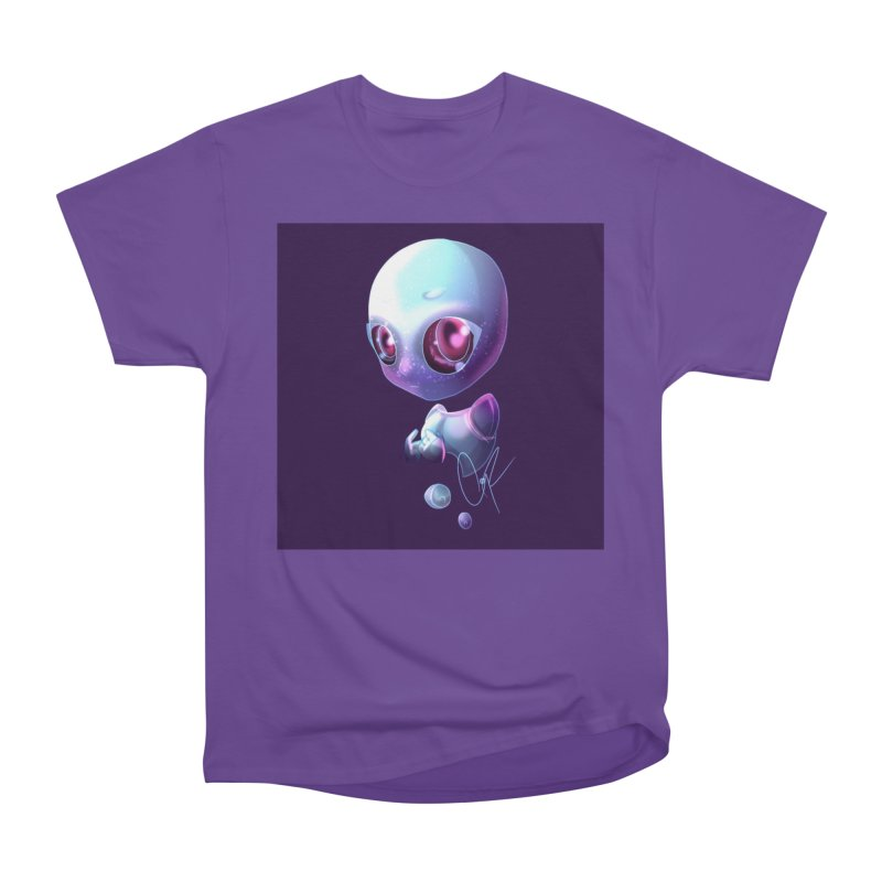 Jeff the Alien Men's Heavyweight T-Shirt by Magpies and Pigeons