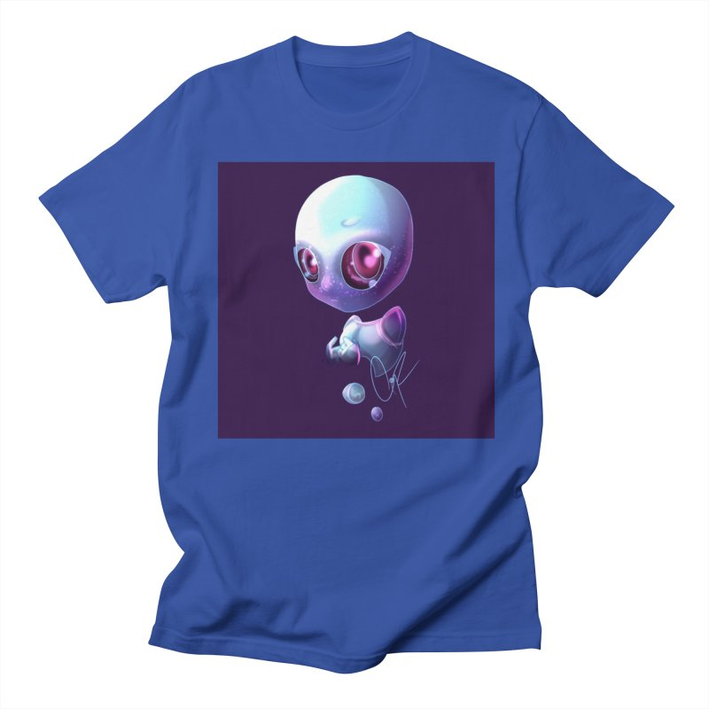 Jeff the Alien Men's Regular T-Shirt by Magpies and Pigeons