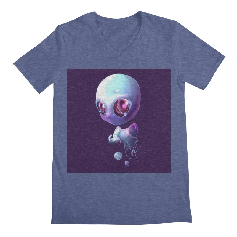 Jeff the Alien Men's V-Neck by Magpies and Pigeons