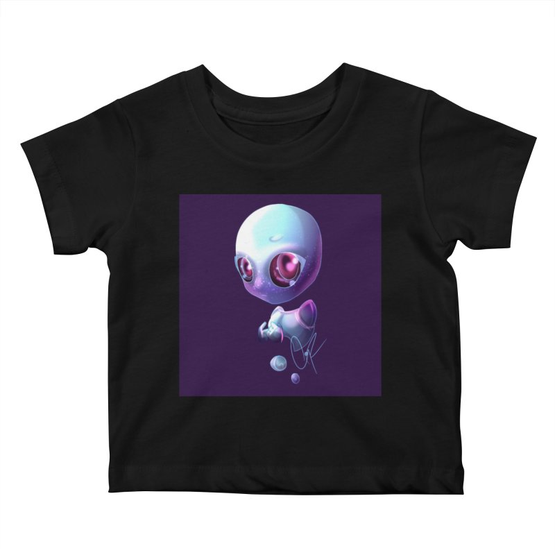 Jeff the Alien Kids Baby T-Shirt by Magpies and Pigeons