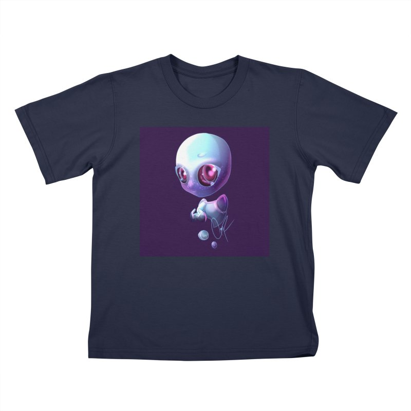 Jeff the Alien Kids T-Shirt by Magpies and Pigeons