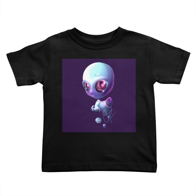 Jeff the Alien Kids Toddler T-Shirt by Magpies and Pigeons