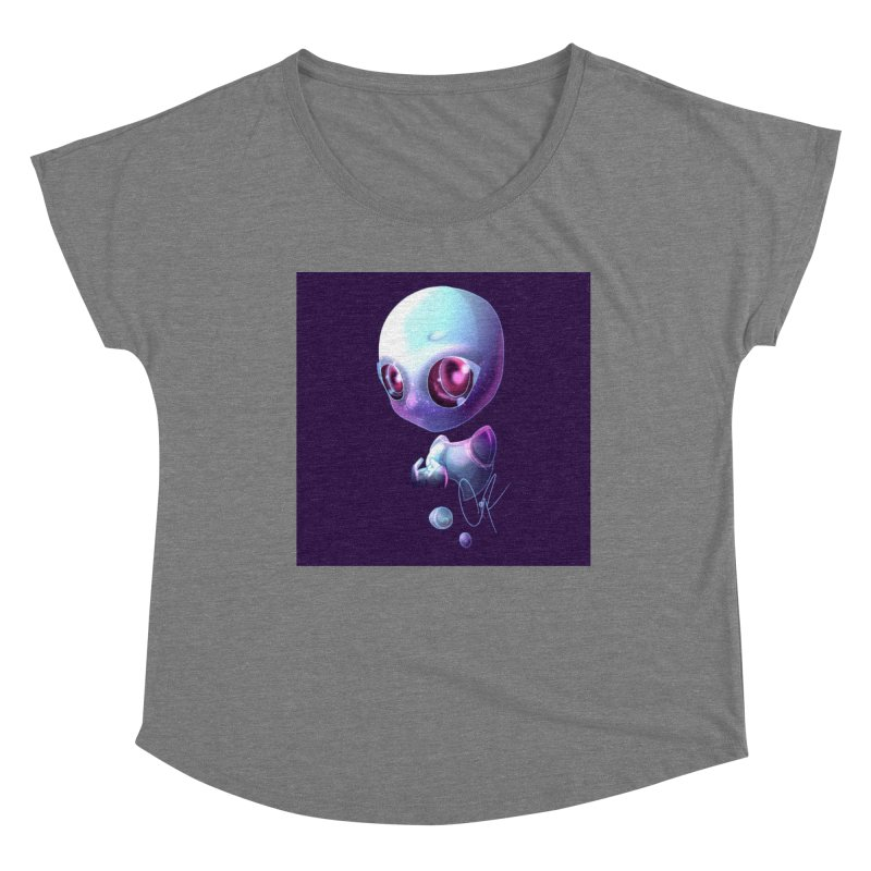 Jeff the Alien Women's Scoop Neck by Magpies and Pigeons