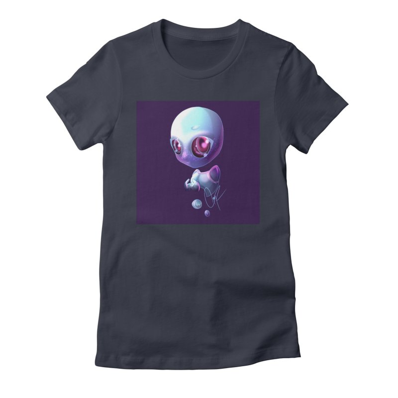 Jeff the Alien Women's T-Shirt by Magpies and Pigeons