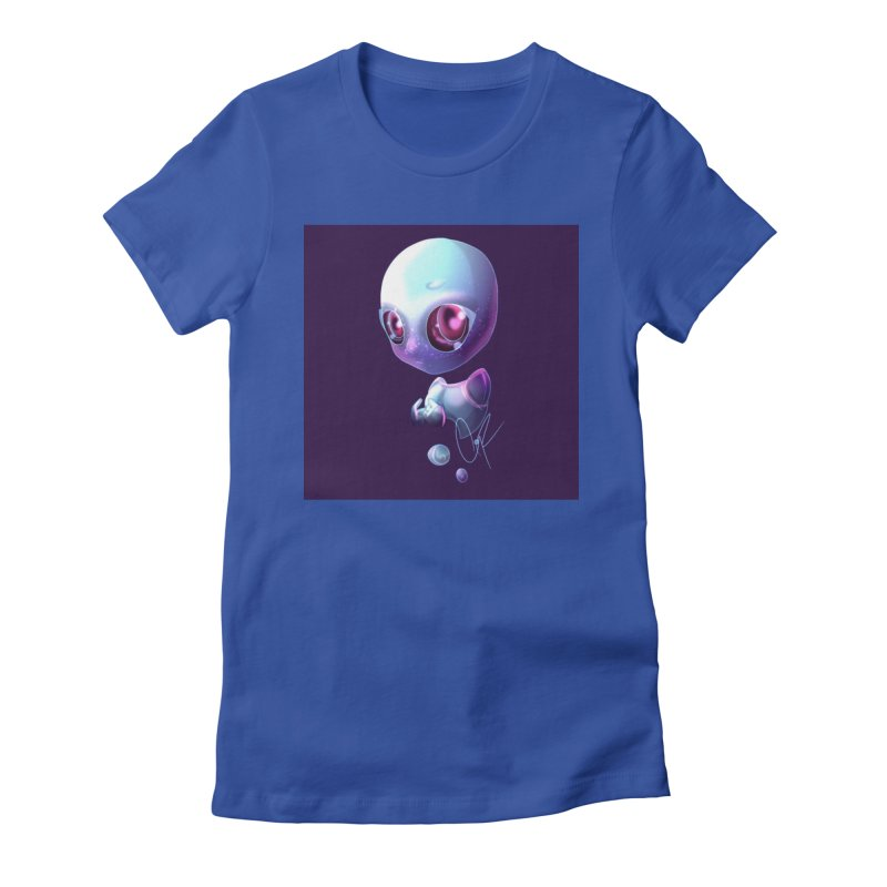 Jeff the Alien Women's Fitted T-Shirt by Magpies and Pigeons