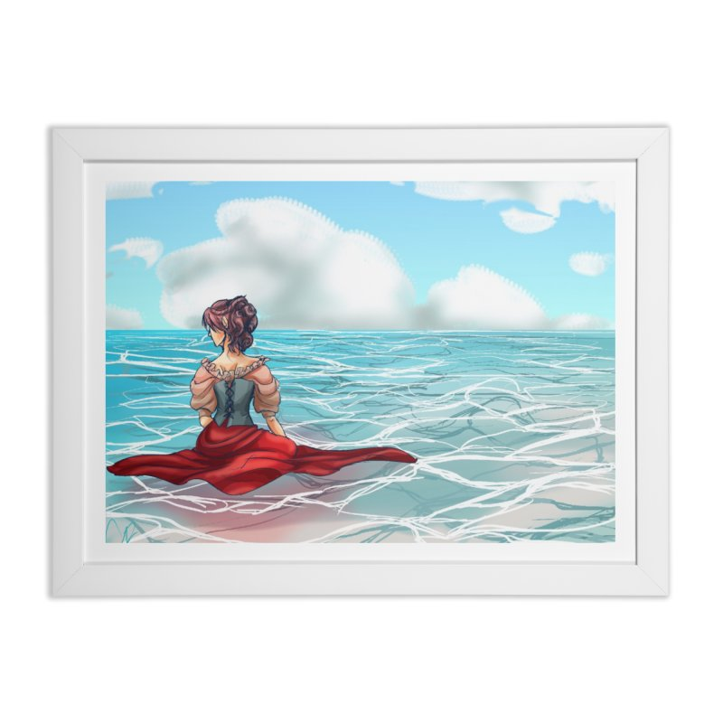 Floating on the Water Home Framed Fine Art Print by Magpies and Pigeons