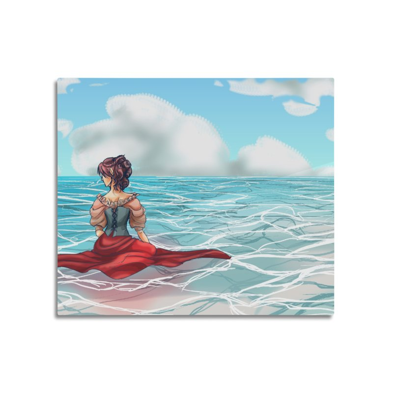 Floating on the Water Home Mounted Aluminum Print by Magpies and Pigeons